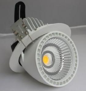 China Rotatable LED Gimbal Light 50W , CREE COB LED Downlight High Brightness on sale