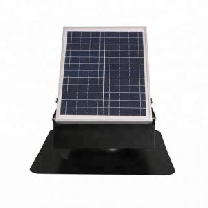 China 30W 9 Inch Solar Roof Ventilator All Metallic Construction For Shingle Roof on sale
