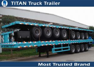 China Airbag suspension 70 tons 42 foot Flatbed Semi Trailer equipment with 4 axles on sale