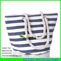 China LUDA large capacity women handbags striped ladies handbag casual tote straw bag on sale