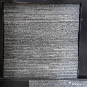 China Black Slate / Quartzite Stone Veneer , Natural Stone Thin Stone Veneer Panels on sale