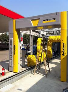 China PLC TEPO-AUTO Tunnel Car Wash System Energy Saving With Air Drying on sale