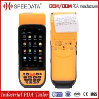 4G LTE Rugged Smartphone Terminal with Barcode Scanner/Fingerprint Reader/ Portable Printer for Parking Ticket Machine