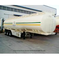 Liquid Flammable Petroleum Road Transport Tanker Trailer 3 Axles For Diesel Gasoline ,Oil , Kerosene 42CBM