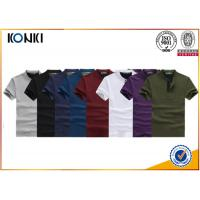 Knitted Custom Polo Shirt 100% Cotton Polo Shirts 200gsm Fabric Weight for Men