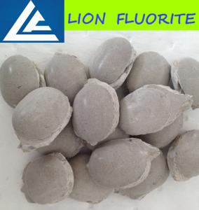 China Fluorite ball/ CaF2 75% fluorite ball metallurgical grade fluospar/cement grade briquettes/uses of calcium fluoride on sale