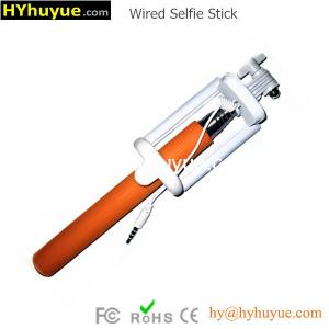 China 2015 newest Mini & Folded Wired Selfie Stick Monopod at Factory Price from HYhuyue on sale