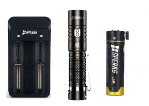 China Hiking 14500 Battery 1000lm Rechargeable LED Flashlights on sale