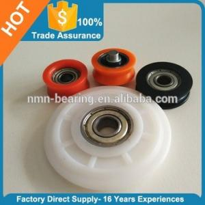 China Plastic Wheel bearing door and window rollers on sale