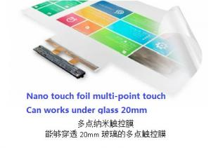 China 30 inch Closed NANO PET Touch Screen Foil For Touching Fields under glass 20mm on sale