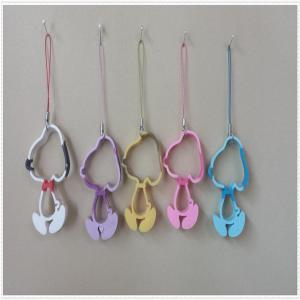 China Lovely and fashionable phone hanging ornaments keyring for promotion on sale