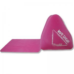 China Inflatable wedge-shaped lounger cushion with a waterproof mat on sale