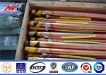 UL Listed Underground Copper Ground Rod 0.25/0.3mm Cooper thickness  Straightness 0.5mm 1.0mm Thickness