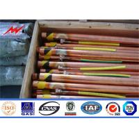 0.254mm 0.33mm Copper Ground Rod Cover With Clamps Trong Corrosion Resistance