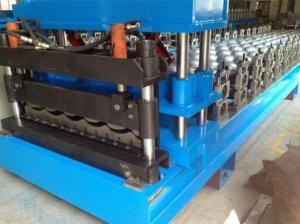 China Automatic Roof Panel Roll Forming Machine , Steel Metal Glazed Step Tile Making Machine on sale