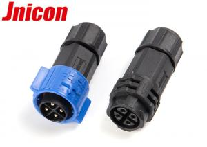 China Male And Female Waterproof Bulkhead Connectors 4 Pin Push Locking Connection on sale