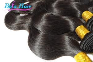 China Natural Black / Red Violet Eurasian Virgin Hair Extensions 35 Inch on sale