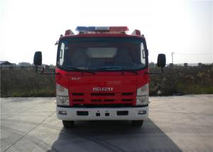China 2x Halogen Lamp Tanker Fire Truck , 260 L/Min Flow Light Rescue Fire Trucks 4x2 Chassis on sale