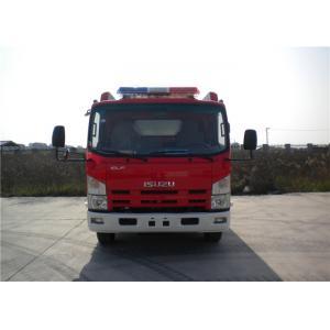 China 2x Halogen Lamp Tanker Fire Truck , 260 L/Min Flow Light Rescue Fire Trucks 4x2 Chassis on sale