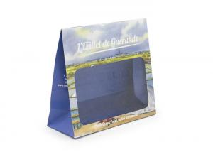 China White Sustainable Kraft Personalised Paper Bags With Transparency Window on sale