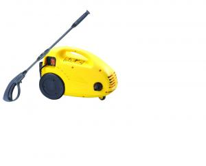 China Small Yellow High Pressure Cleaner , Portable Car Washing Machine For Home Cleaning on sale