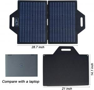 China Portable Foldable Solar Panel Charger With Dual USB   DC Port  19V Output on sale