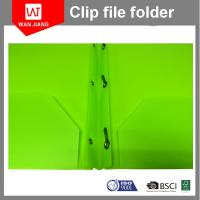 New design document file PP plastic 3 prong file folder with two pockets and business card slot