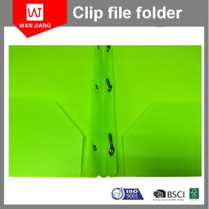 China New design document file PP plastic 3 prong file folder with two pockets and business card slot on sale