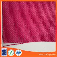 China Pink paper wire weave fabric cloth natural straw fabric textile on sale