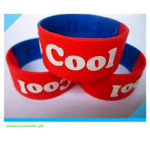 China 1inch embossed silicone wristband on sale