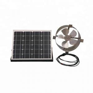 China 25W 12 Inch Solar Powered Gable Vent Fan Long Lifespan For Corrugated Steel Roof on sale