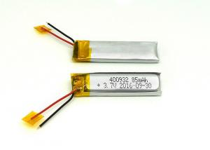 China 3.7V 85mAh 400932 Li-polymer  Rechargeable Battery bluetooth headset on sale
