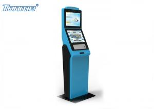 China Dual Screen Ticket Vending Kiosk , Self Service Kiosk Floor Stand for Theater / Cinema on sale