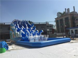 China Outdoor Wave Inflatable Water Pool Slip N Slide / Water Sport Games PVC Tarpaulin Material on sale
