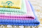 MIcrofiber Weft Knitted Hand Towel home use kitchen stripe cleaning towel super soft