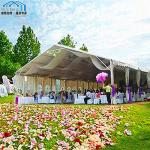 Red Giant Outdoor Wedding Tent UV Resistant Holiday Parties Use