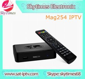 China IPTV MAG254 powferful digital satellite receiver mag254 set top box wholesale
