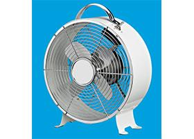 China Plastic 9 Inch Retro Metal Table Fan , Home 3 Speed Decorative Desk Fan on sale