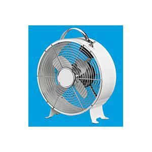 China Plastic 9 Inch Retro Metal Table Fan , Home 3 Speed Decorative Desk Fan on sale