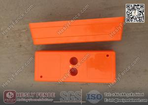 Orange Color Injection Mould Plastic Temporary Fencing