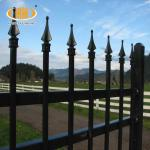 Spear Top Metal Fence/steel Picket Fence/wrought Iron Fence For Sale