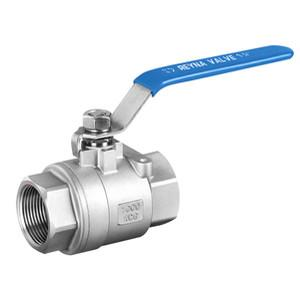 China Two Piece Stainless Steel Ball Valve Internal Thread Screw Small Size SS304/316 on sale
