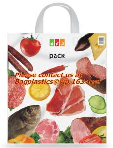 China Soft loop handle 100% biodegradable plastic bags plastic bag biodegradable, COMPOSTABLE on sale
