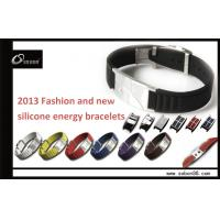 2013 fashionable power wristband silicone energy bracelet with factory price for promotion