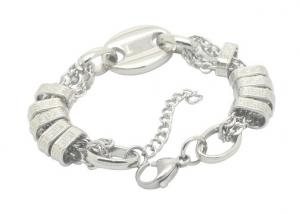 China Custom Punk Rock Style Mens Stainless Steel Chain Link Bracelet For Jewelry Making on sale