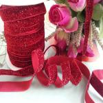 Glitter Elastic Ribbon DIY Single Face Gift Packing Lace Ribbon
