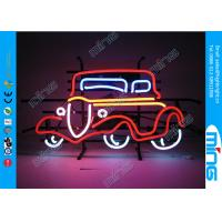 China Flashing Glass Car Shop Neon Light Signs in Red Yellow Color on sale