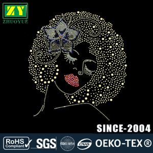 China Custom Design Hotfix Patterns , Multi Color Rhinestone Decals For Shirts on sale