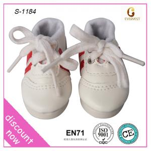 China Chinese custom white sport doll shoes for baby dolls on sale