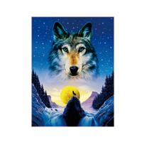 Animal 3D Lenticular Pictures For Office Decoration / 3D Wolf Picture
